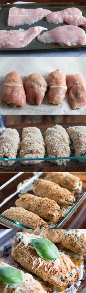 stuffed turkey roll ups, turkey rollups