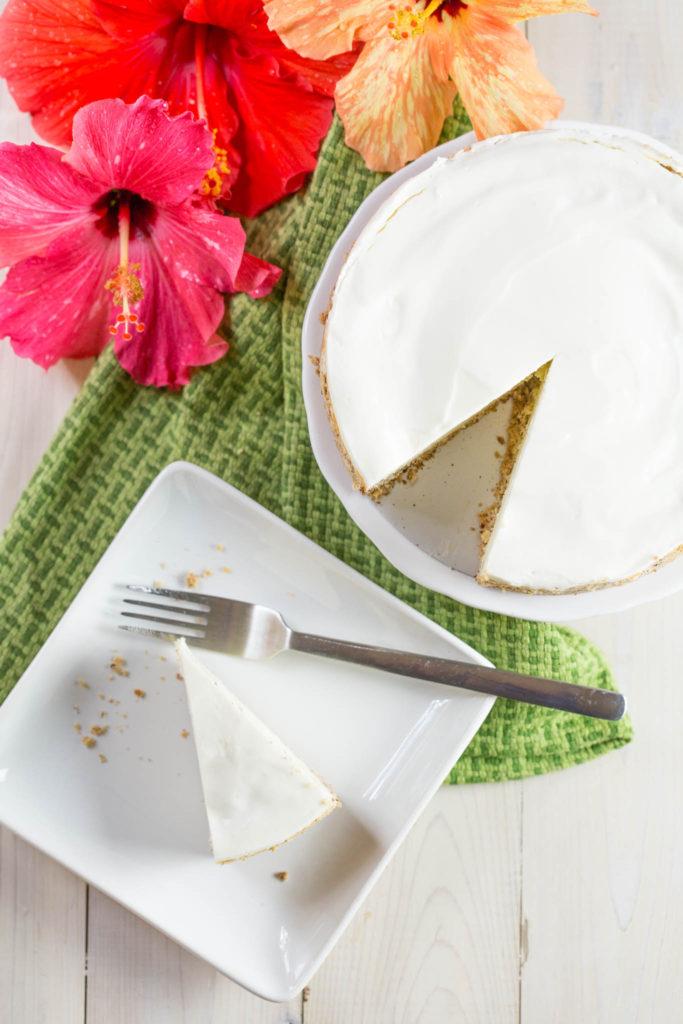 Overhead shot of keto cheesecake
