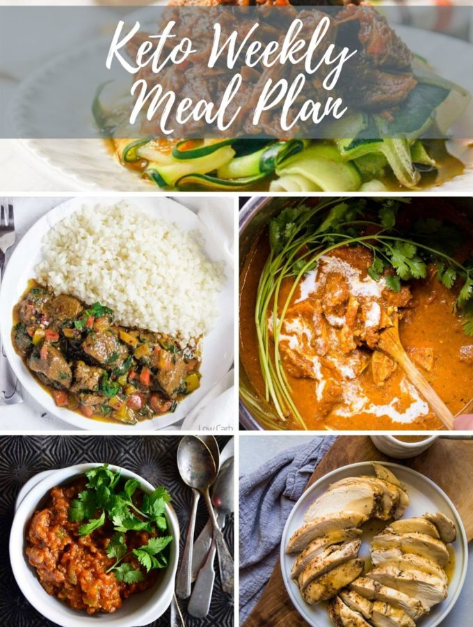 pinable image for keto weekly meal plan