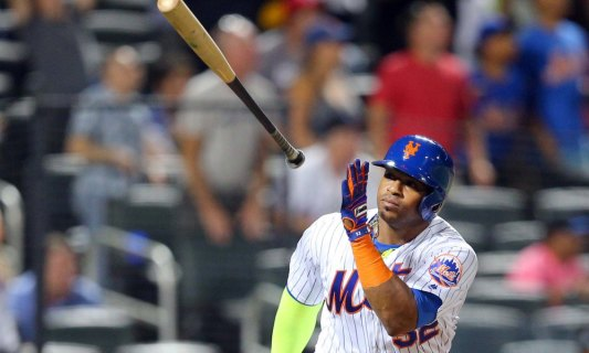 USP MLB: MIAMI MARLINS AT NEW YORK METS S BBN USA NY