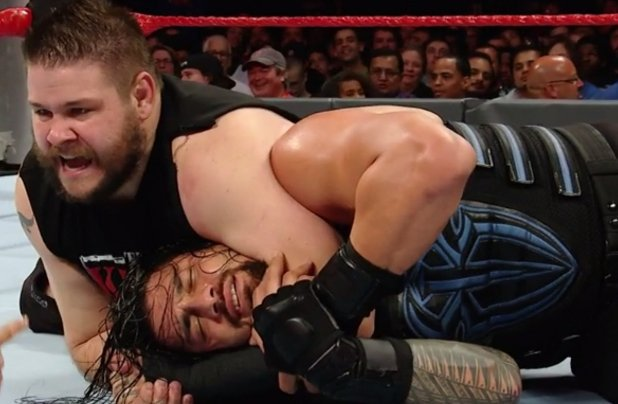 reigns laughing in headlock