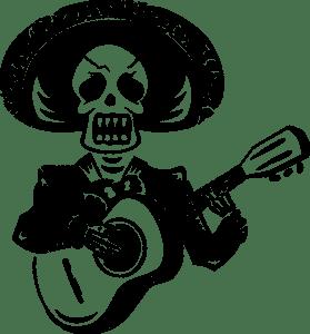 Día De Los Muertos skeleton singer