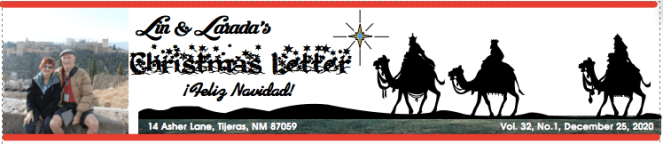 Lin and Larada's Christmas Newsletter banner