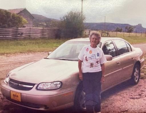 Mom and her Malibu in 2004 - cars