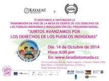 Programa en vivo «Juntos avanzamos por los derechos de los pueblos indígenas»