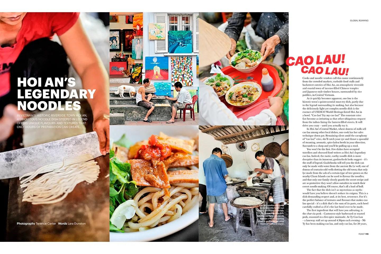 Feast Magazine —Hoi An's Legendary Noodle Dish. Lara Dunston.