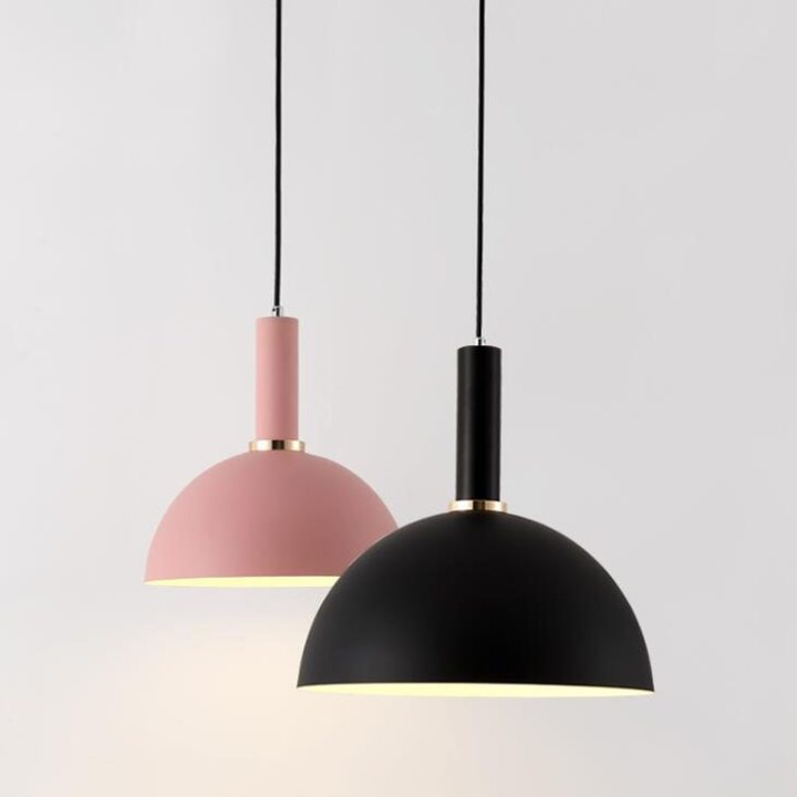 Nordic Macarons pendant lights Modern bedroom bedside dining room Pendant lamp Bar/cafe individual creative lighting fixtures