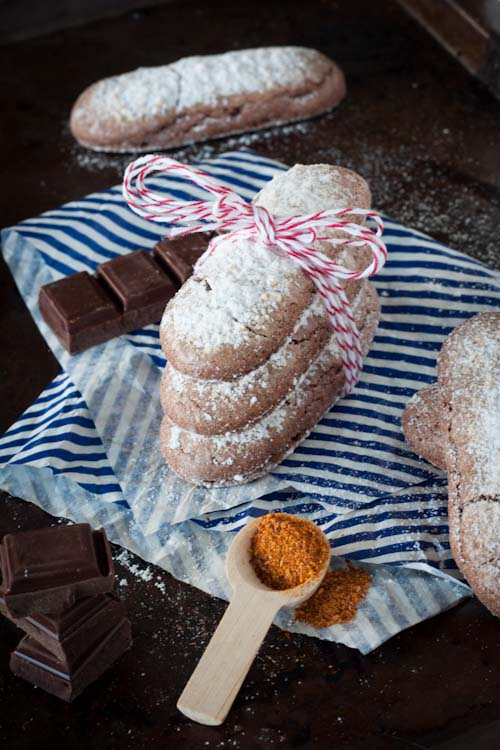biscuits à la cuillère chocolat piment