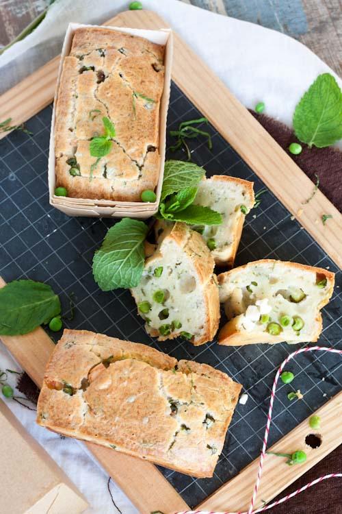 Petits Cakes à la Fêta, Petits Pois et Menthe3