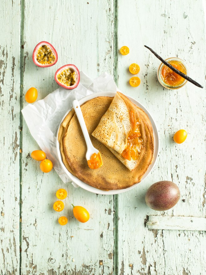 crepes marmalade de kumquat passion vanille