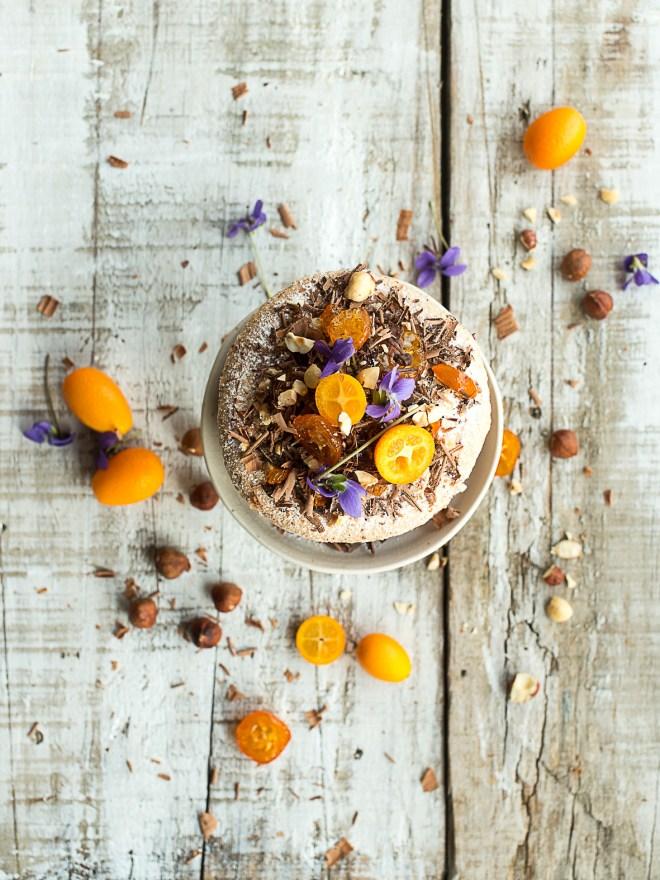 dacquoise montée chocolat kumquats