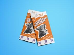 Werbemittel ÖH-Wahlen |Folder zugeklappt | LUKS |Liste unabhängiger und kritischer Studierender