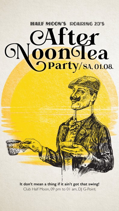 Club Halfmoon Afternon Tea Teaparty roaring 20s |larafinesse