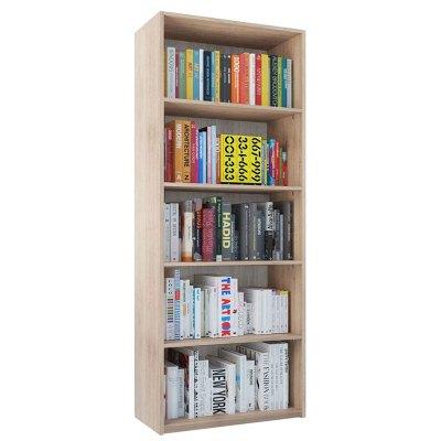 Etajera Lara Office, Stejar Ferrara, L80xA32xH200 cm