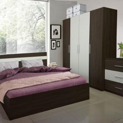 Dormitor Salonic Wenge, Dulap in 4 usi