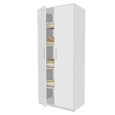 Dulap E4 Alb, cu 4 etajere, L90xH200xA50 cm