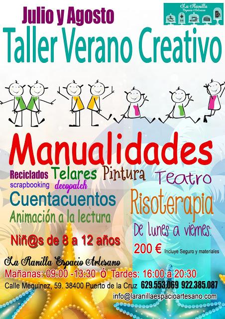 TALLER DE VERANO CREATIVO PARA TUS HIJOS