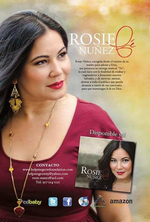 Rosie Nuñez - Debut Album - Fe - Promo Flyer