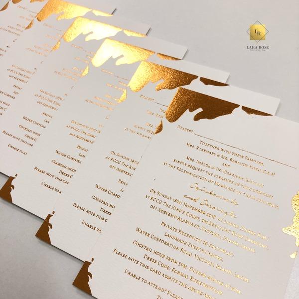 The Baz Wedding Invitation Lara Rose
