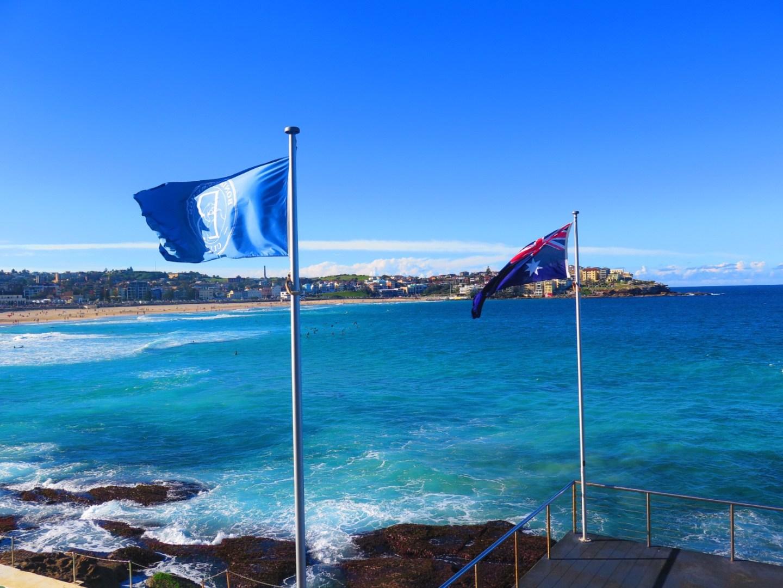 Bondi icebergs flags Lara Lain