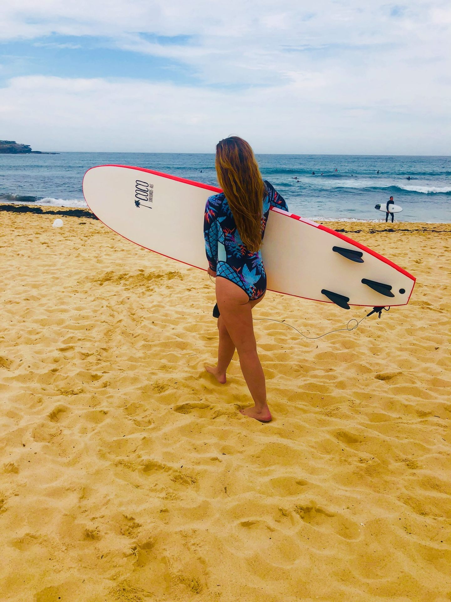 My first time surfing Bondi Beach with my own board