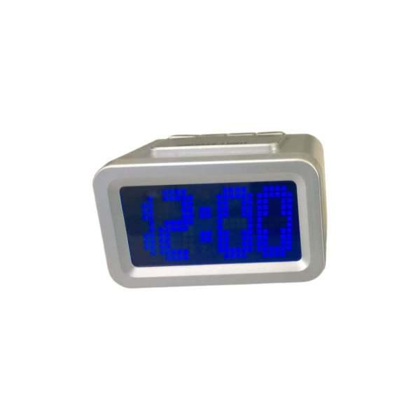 Relógio com visor ampliado, cor prata