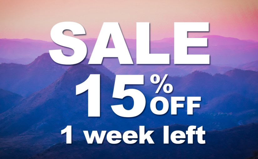 Only for 1 week. Special price. 15% off