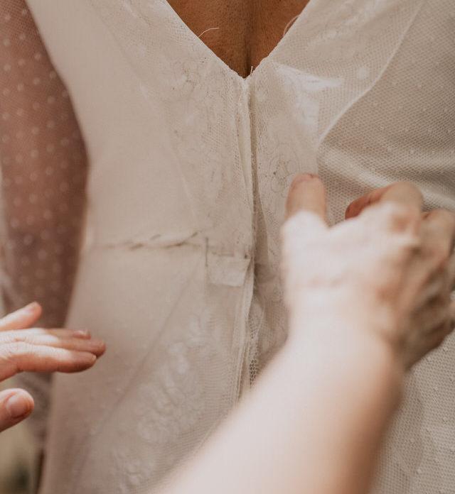 Vestido de novia a medida modista