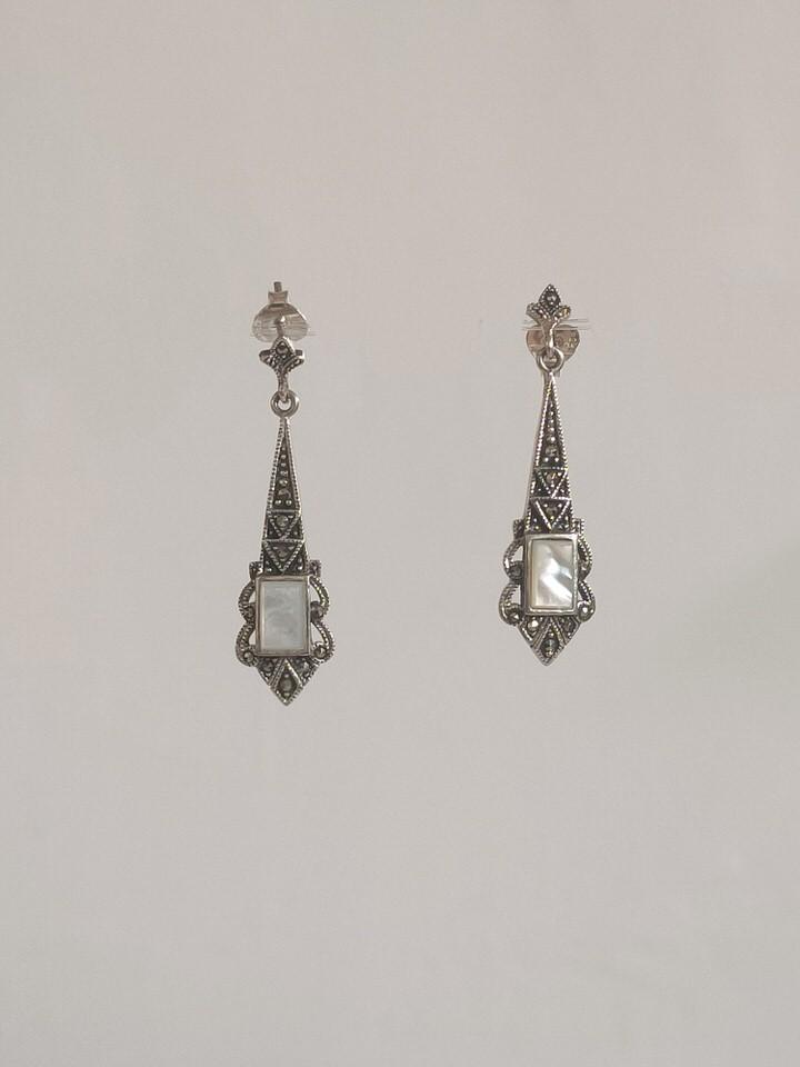 pendientes-plata-antigua-nácar-TEODORA