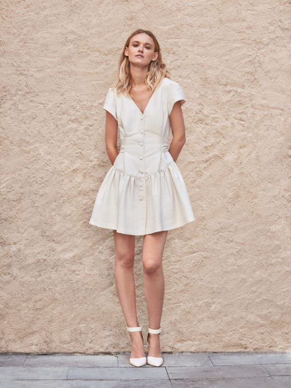 Vestido novia pret-a-porter corto