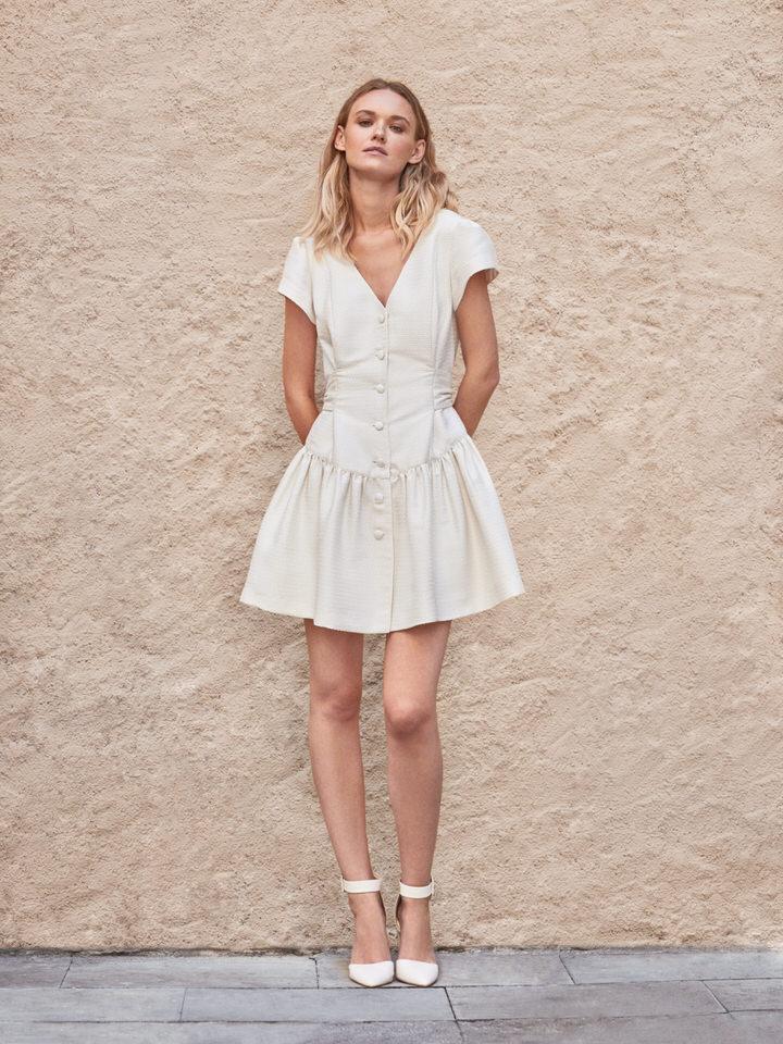 Vestido novia vintage corto
