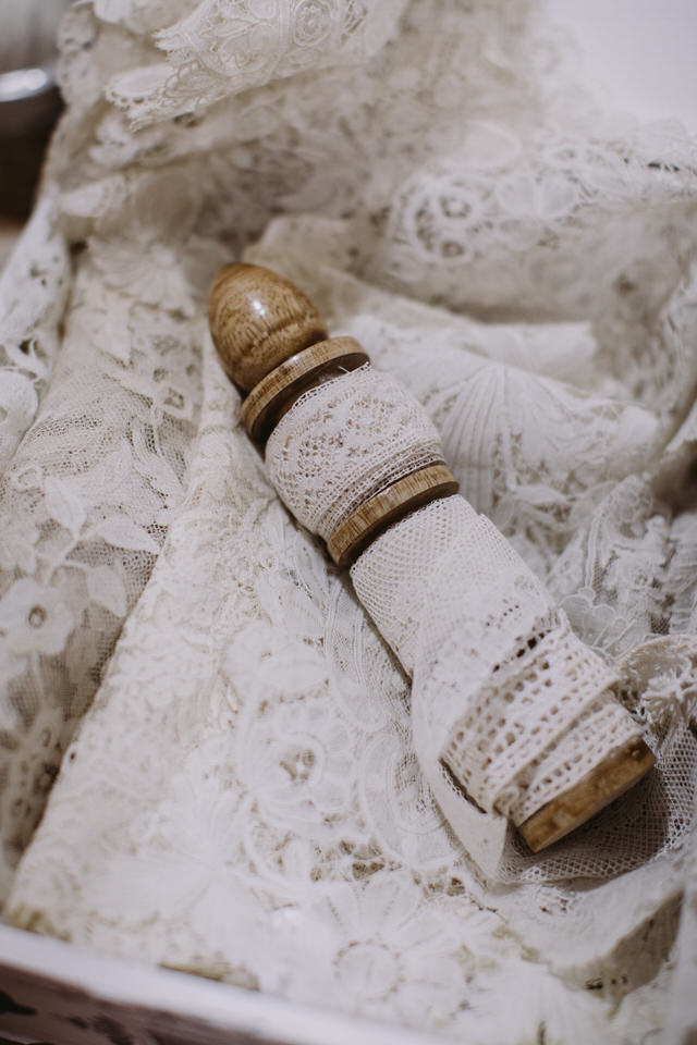 Brussels lace - for sustainable wedding dress