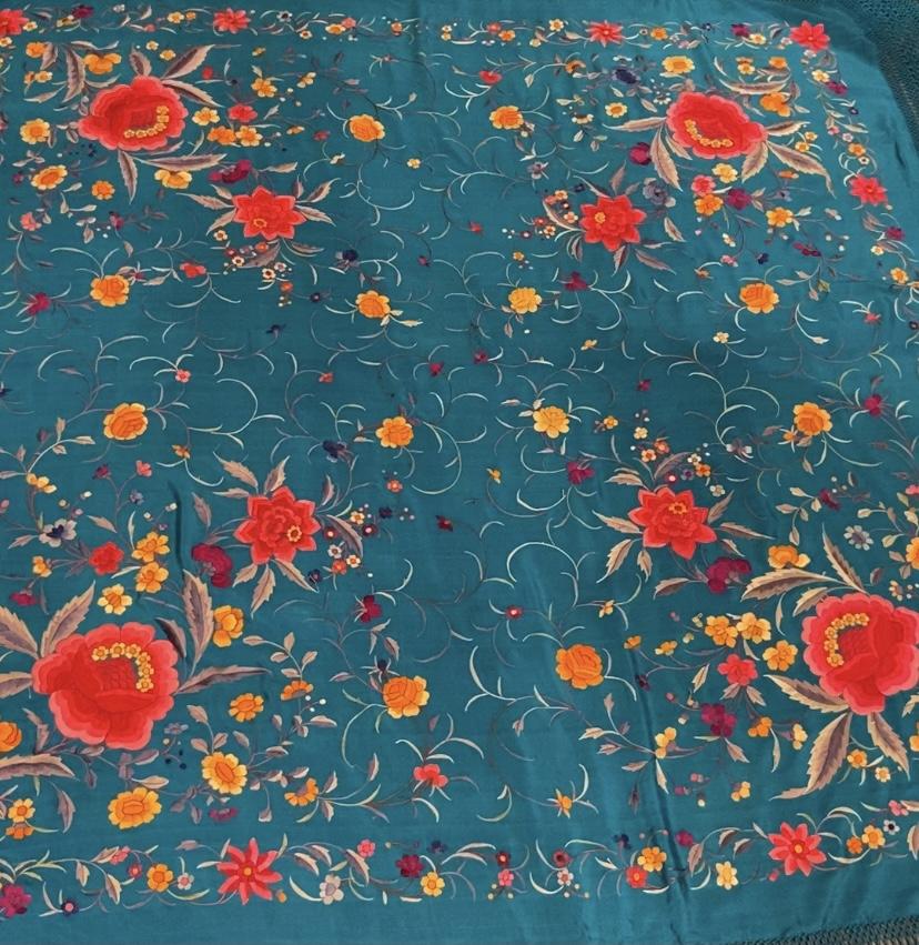 antique piano shawl