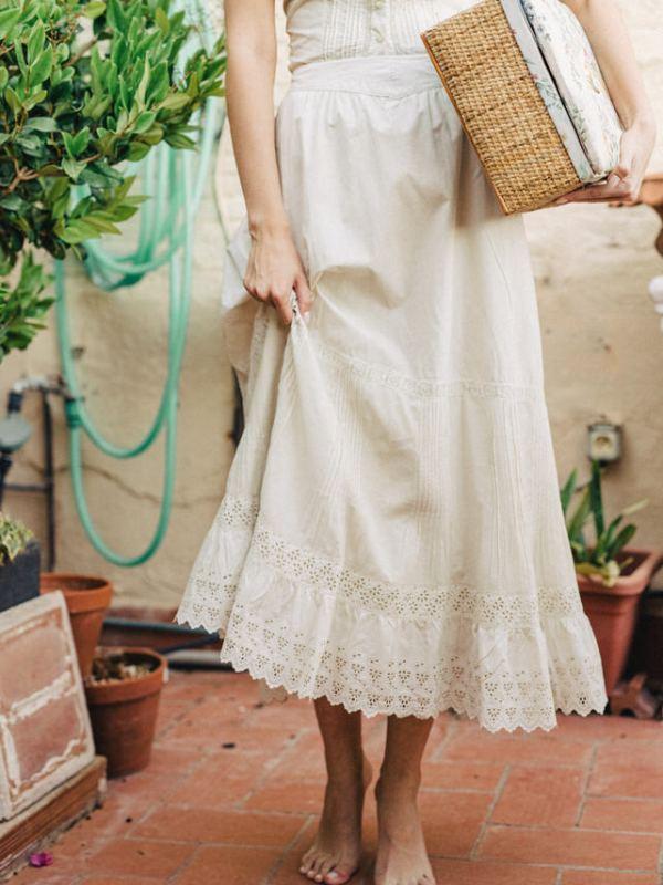 falda encaje tie-dye