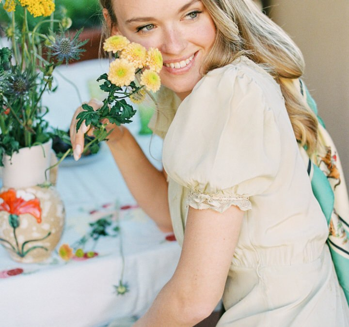 Vestidos lenceros vintage: «L'été en fleur»