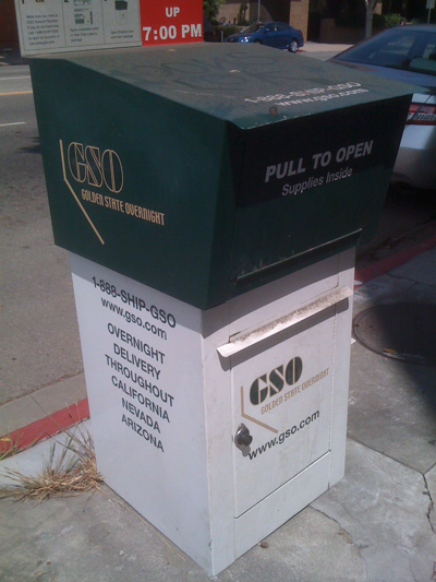 Golden State Overnight (GSO) Drop Box in Larchmont LA
