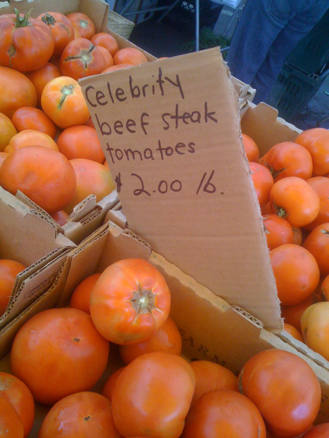 Celebrity Beefsteak Tomatoes in Larchmont Village