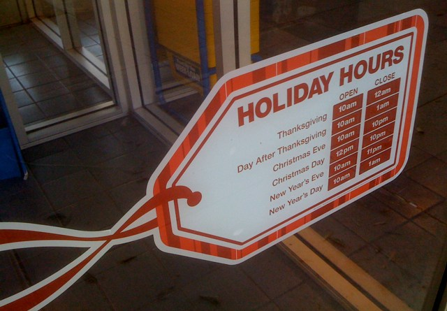 Holiday Hours of Blockbuster in Larchmont Village