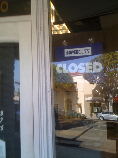 Supercuts in Larchmont Village in Los Angeles