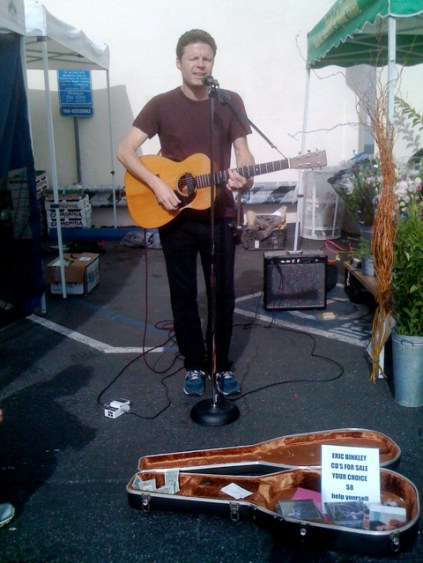Eric Binkley at Larchmont Farmers Market