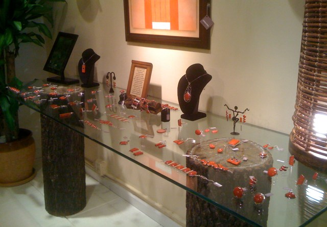 Red Coral Jewelry at Kahbala in Larchmont