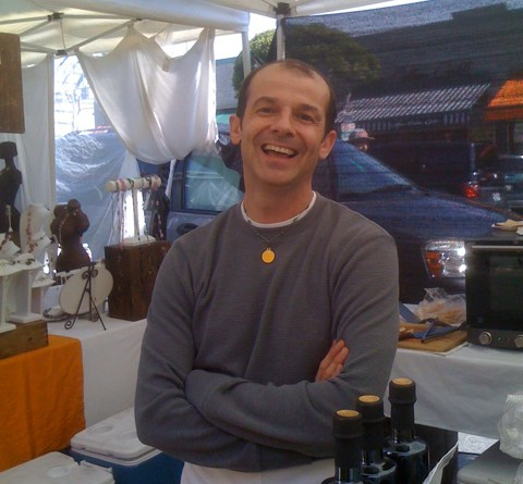 Robertino Giovannelli at the Larchmont Farmers Market