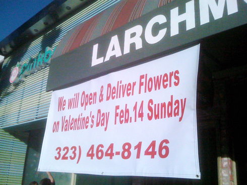 Larchmont Florist on Valentine's Day