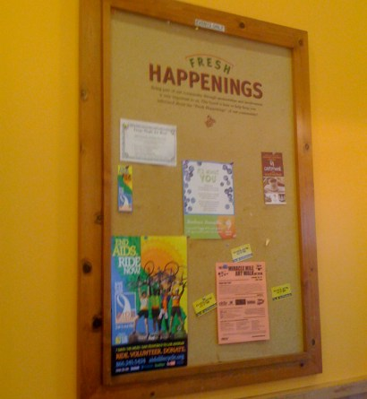 Bulletin Board at Jamba Juice in Larchmont Village