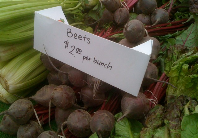 Beets at the Larchmont Farmers Market