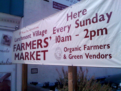 Larchmont Village Farmers' Market in Los Angeles, California