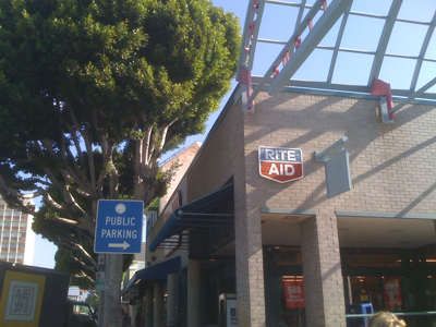 Public Parking by Rite Aid in Larchmont Village