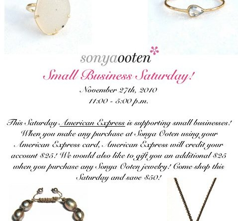 Small Business Saturday at Sonya Ooten Gem Bar