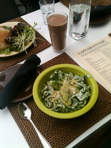 Salad, Sandwich & Smoothies at Cafe Gratitude LA