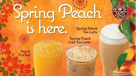 Coffee Bean Spring Peach Drinks